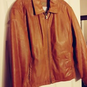 wilsons Light Brown Leather Jacket L